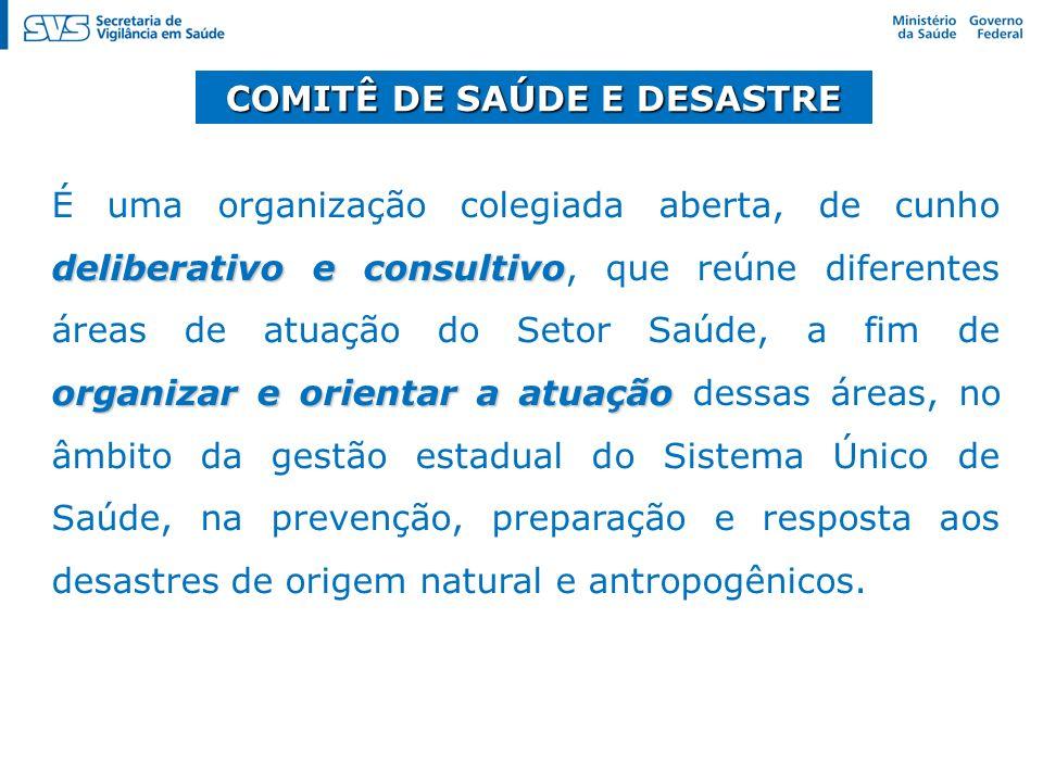 COMITÊ DE SAÚDE E DESASTRE
