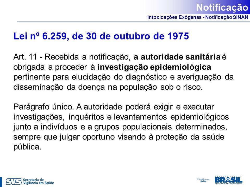 Notificação Lei nº 6.259, de 30 de outubro de 1975