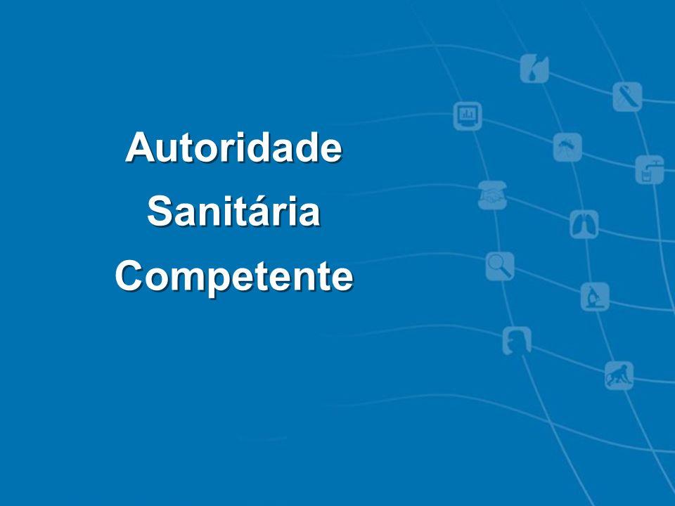Autoridade Sanitária Competente