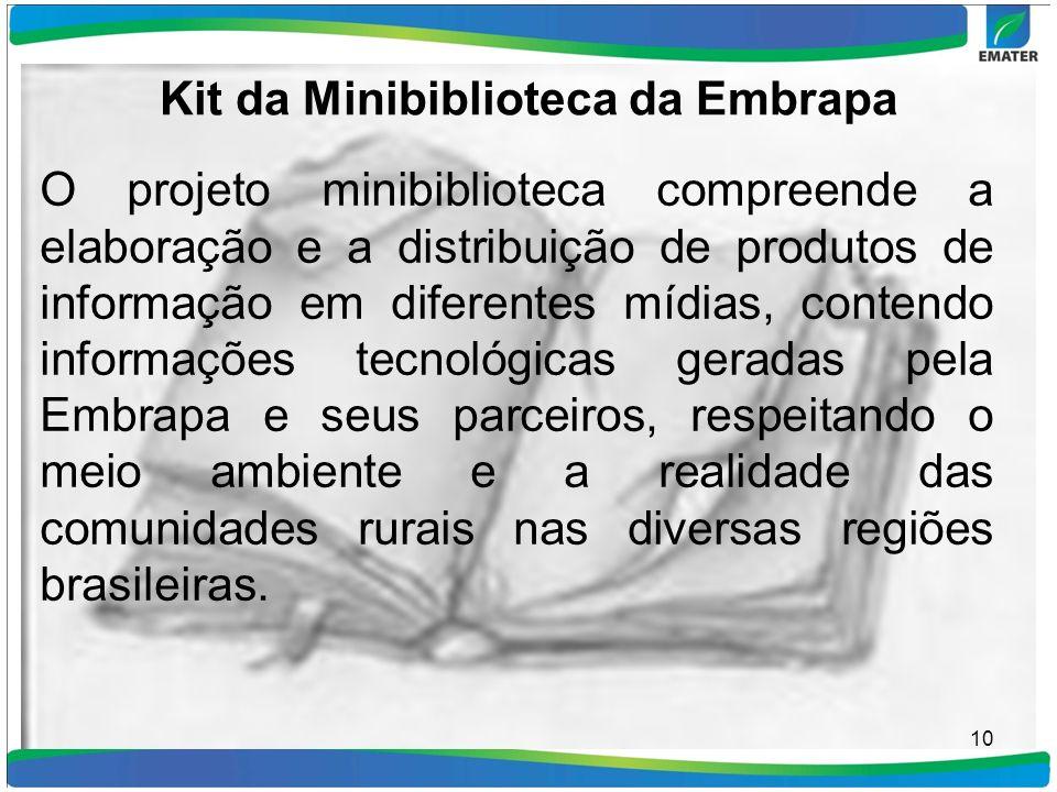 Kit da Minibiblioteca da Embrapa