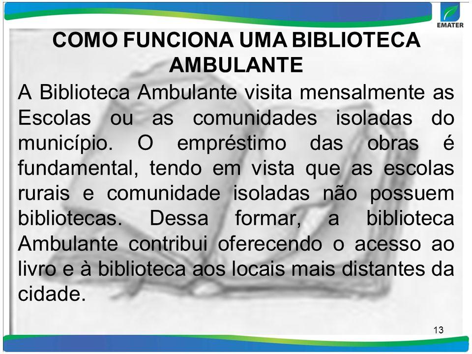 COMO FUNCIONA UMA BIBLIOTECA AMBULANTE