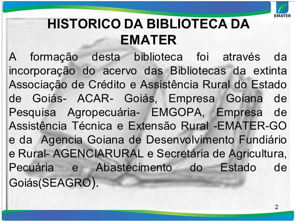 HISTORICO DA BIBLIOTECA DA EMATER