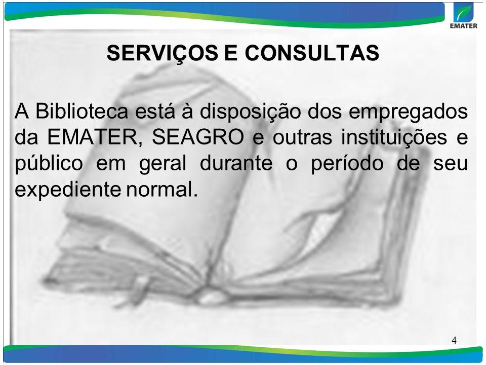 SERVIÇOS E CONSULTAS
