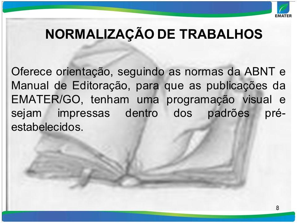 NORMALIZAÇÃO DE TRABALHOS