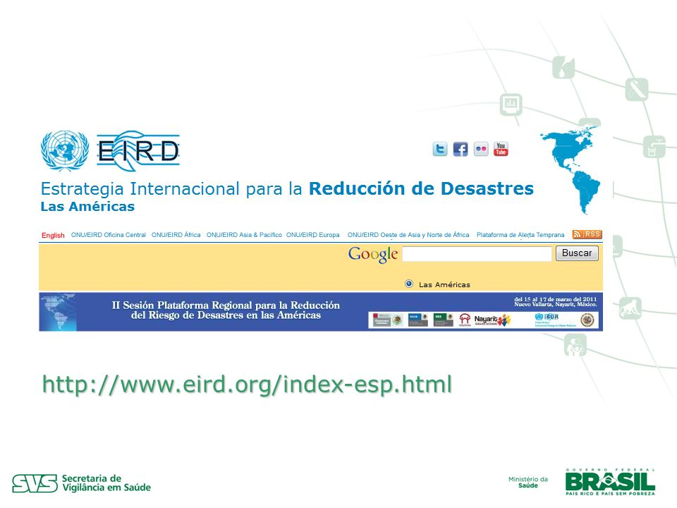 Capacitação em Eventos http://www.eird.org/index-esp.html
