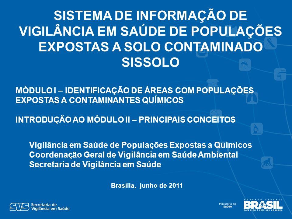 SISTEMA DE INFORMAÇÃO DE VIGILÂNCIA EM SAÚDE DE POPULAÇÕES EXPOSTAS A SOLO CONTAMINADO