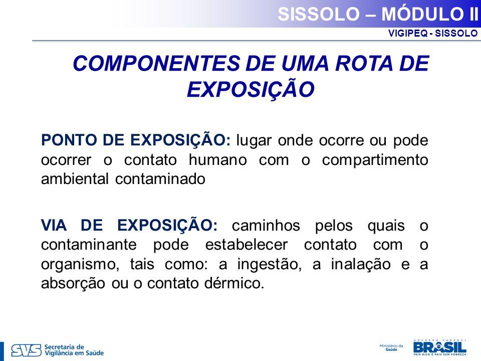 COMPONENTES DE UMA ROTA DE EXPOSIÇÃO