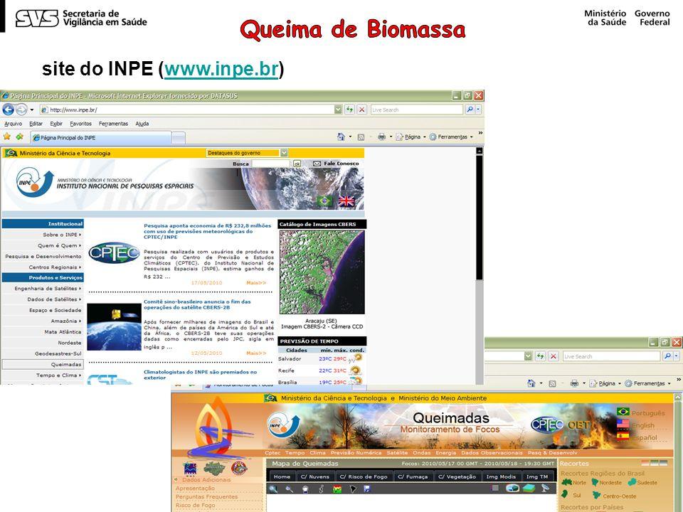 Queima de Biomassa site do INPE (www.inpe.br)