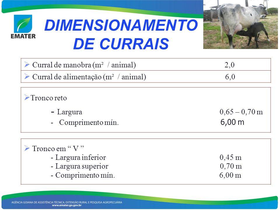 DIMENSIONAMENTO DE CURRAIS