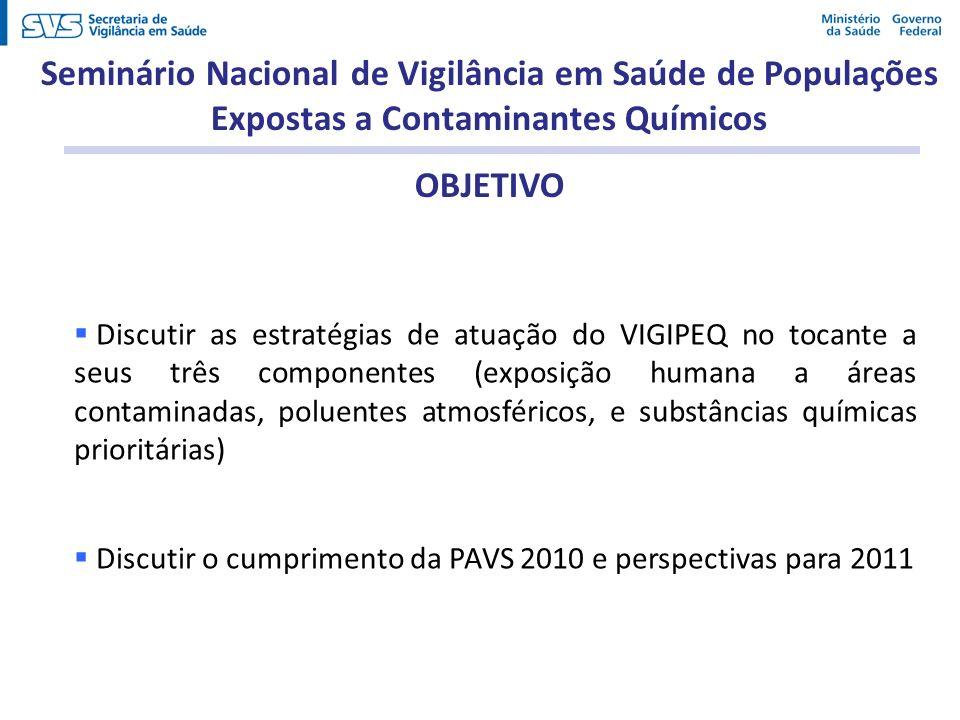 Seminário Nacional de Vigilância em Saúde de Populações Expostas a Contaminantes Químicos