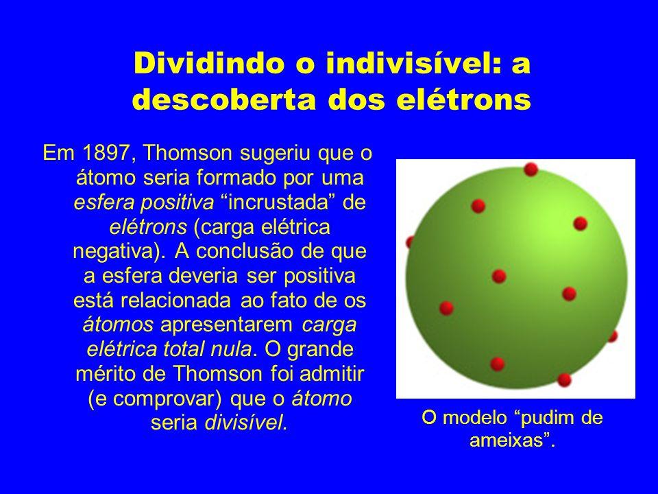 Dividindo o indivisível: a descoberta dos elétrons