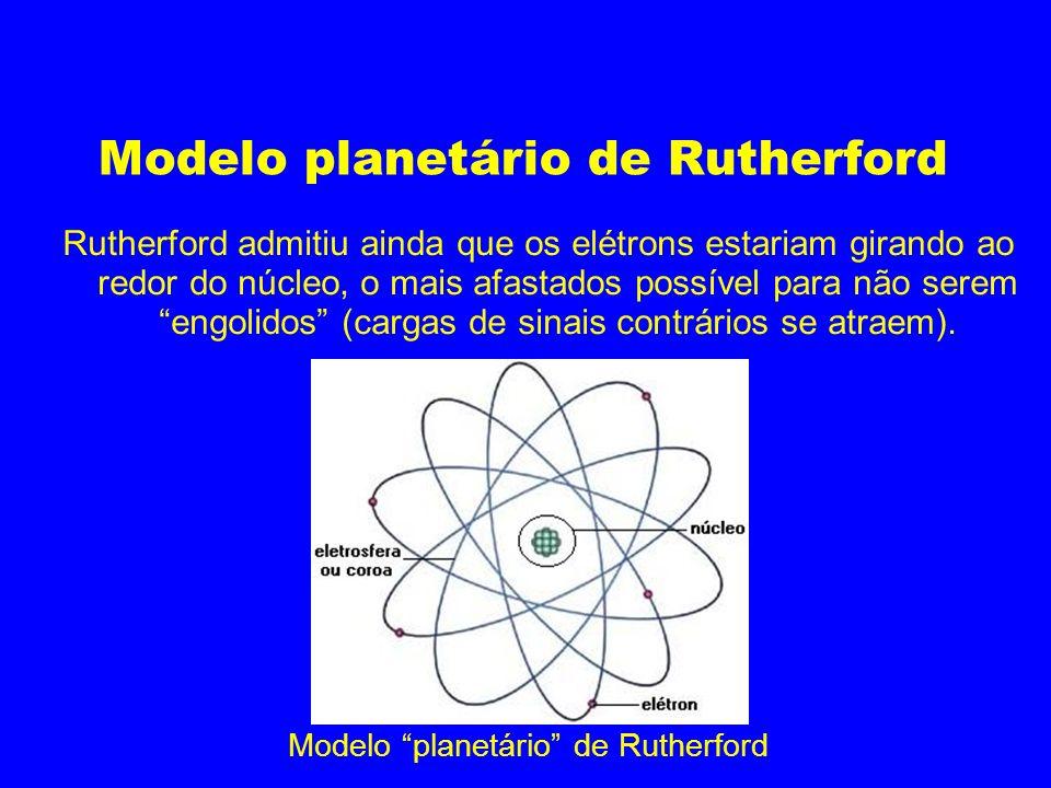 Modelo planetário de Rutherford