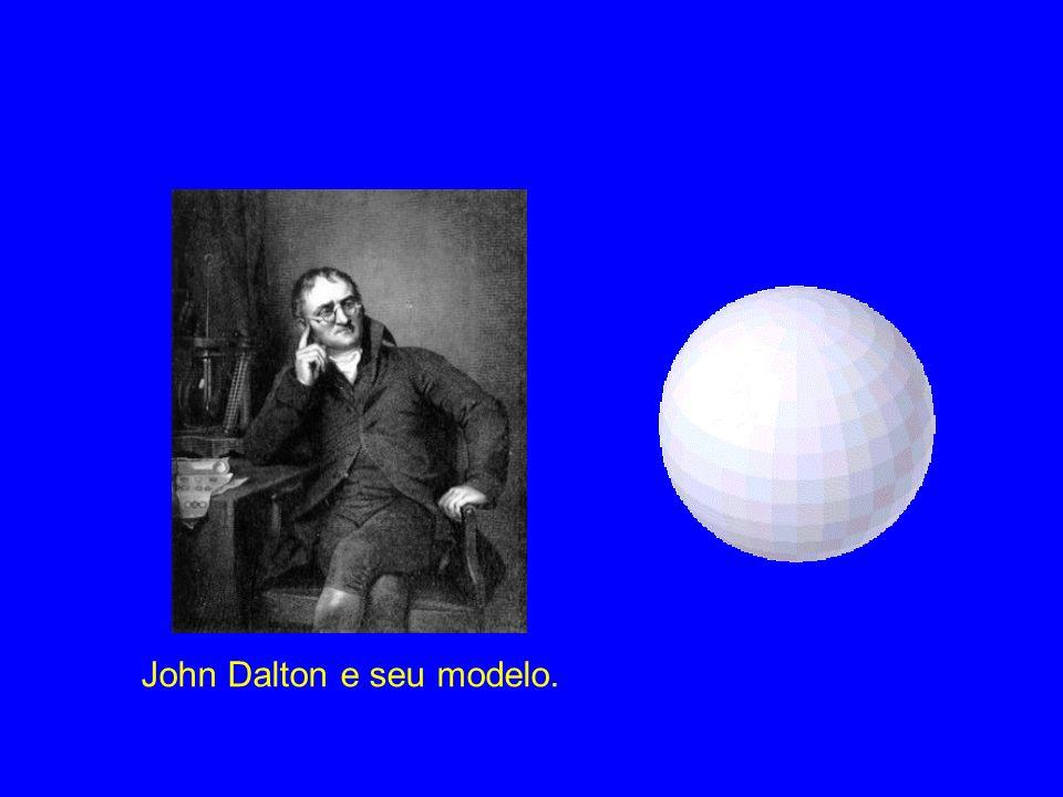 John Dalton e seu modelo.