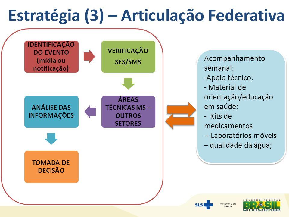 Estratégia (3) – Articulação Federativa