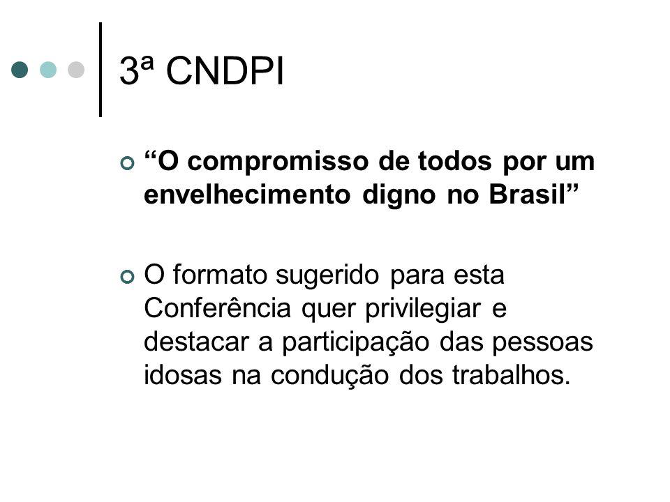 3ª CNDPI O compromisso de todos por um envelhecimento digno no Brasil
