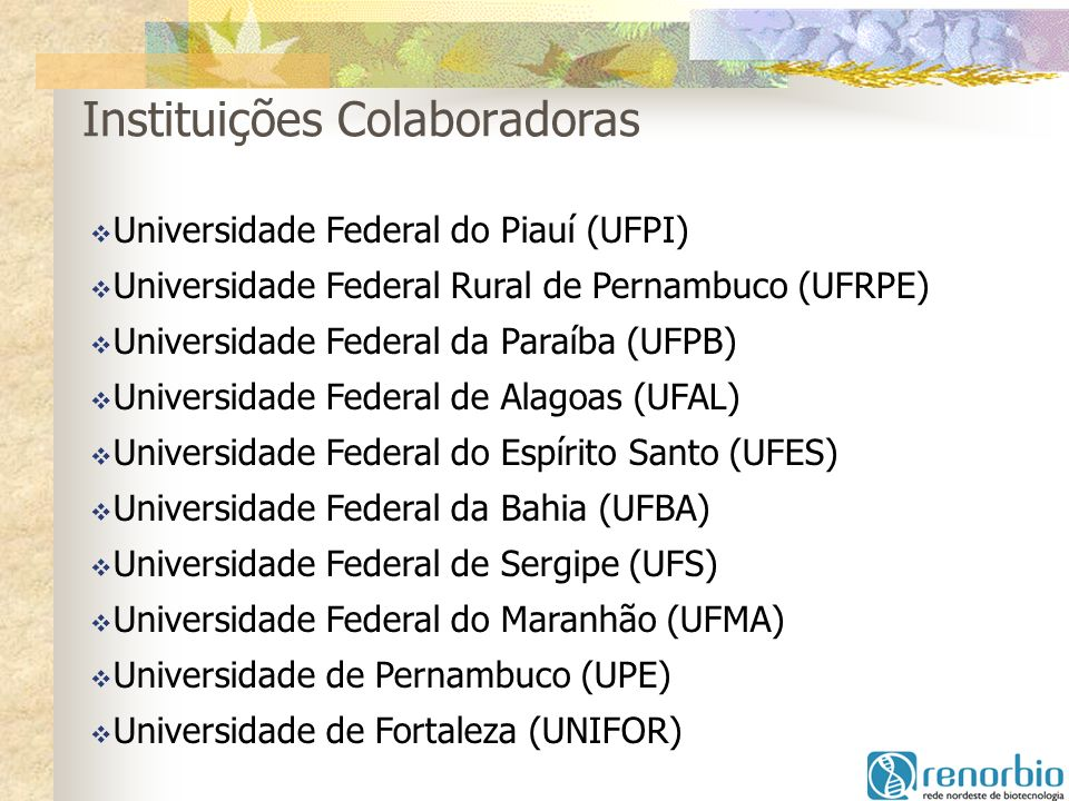 Instituições Colaboradoras