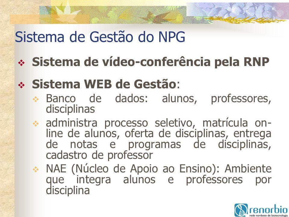 Sistema de Gestão do NPG