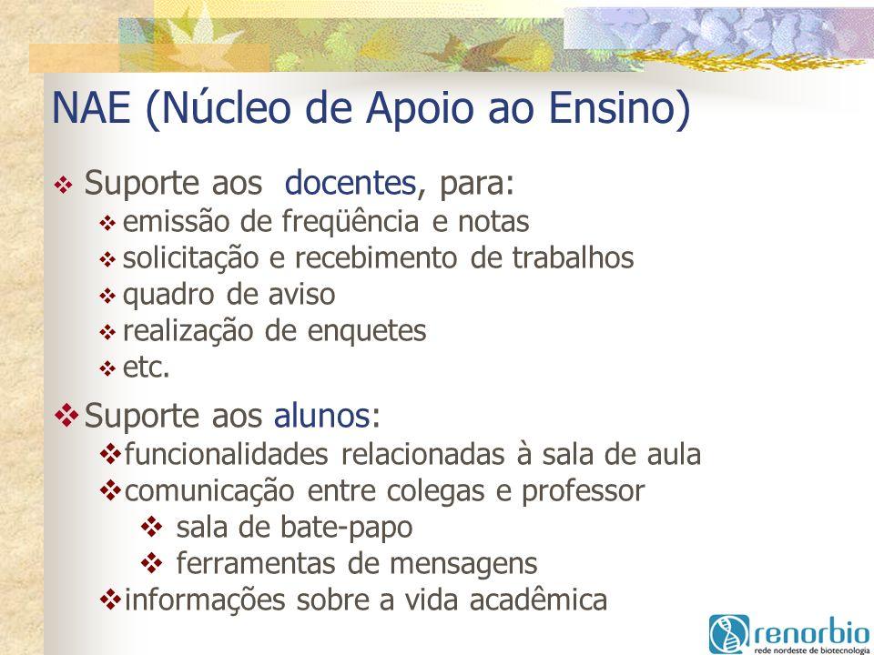 NAE (Núcleo de Apoio ao Ensino)