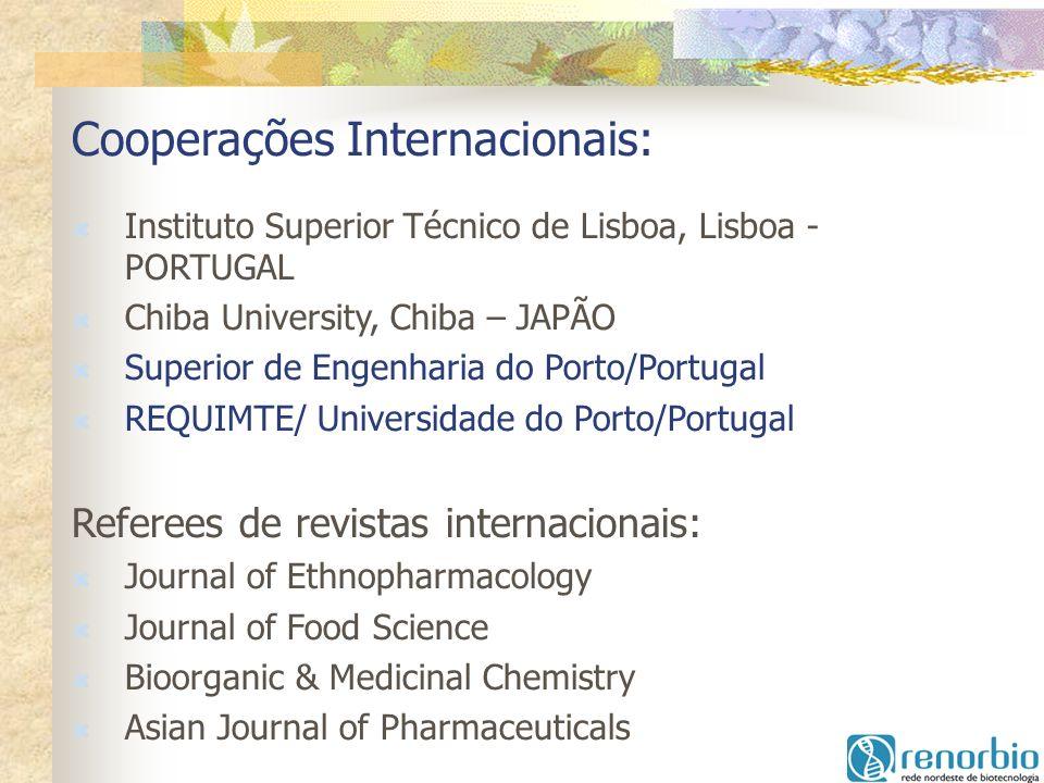 Cooperações Internacionais: