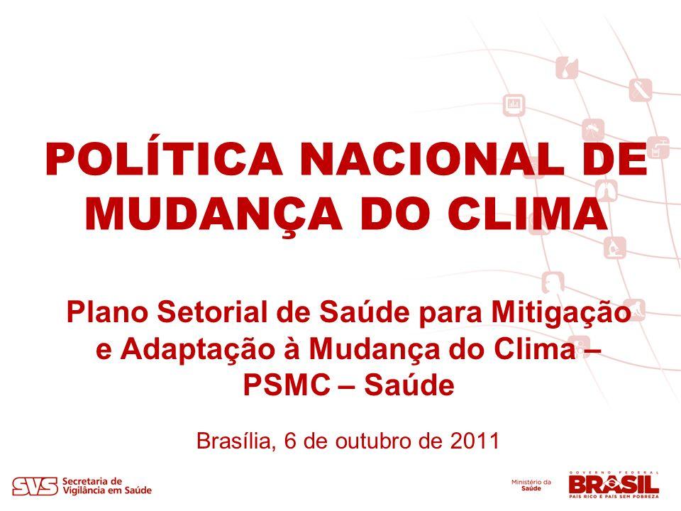 POLÍTICA NACIONAL DE MUDANÇA DO CLIMA