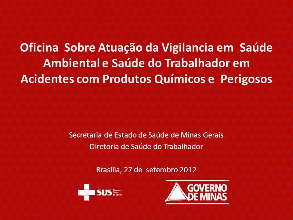 Oficina Sobre Atuação da Vigilancia em Saúde Ambiental e Saúde do Trabalhador em Acidentes com Produtos Químicos e Perigosos