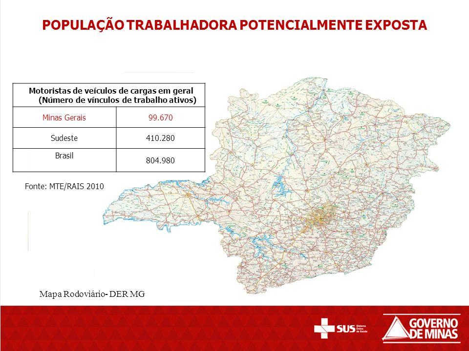 POPULAÇÃO TRABALHADORA POTENCIALMENTE EXPOSTA