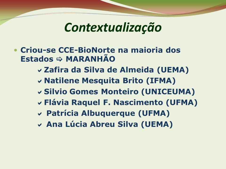 Contextualização Criou-se CCE-BioNorte na maioria dos Estados  MARANHÃO. Zafira da Silva de Almeida (UEMA)