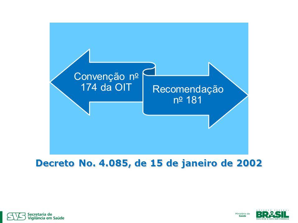 Decreto No. 4.085, de 15 de janeiro de 2002