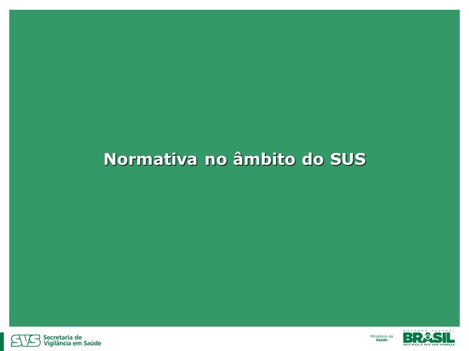 Normativa no âmbito do SUS