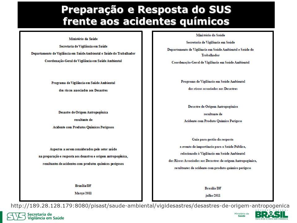 Preparação e Resposta do SUS frente aos acidentes químicos