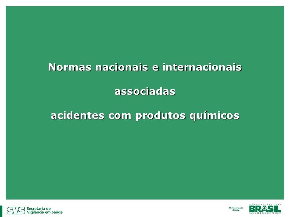 Normas nacionais e internacionais acidentes com produtos químicos