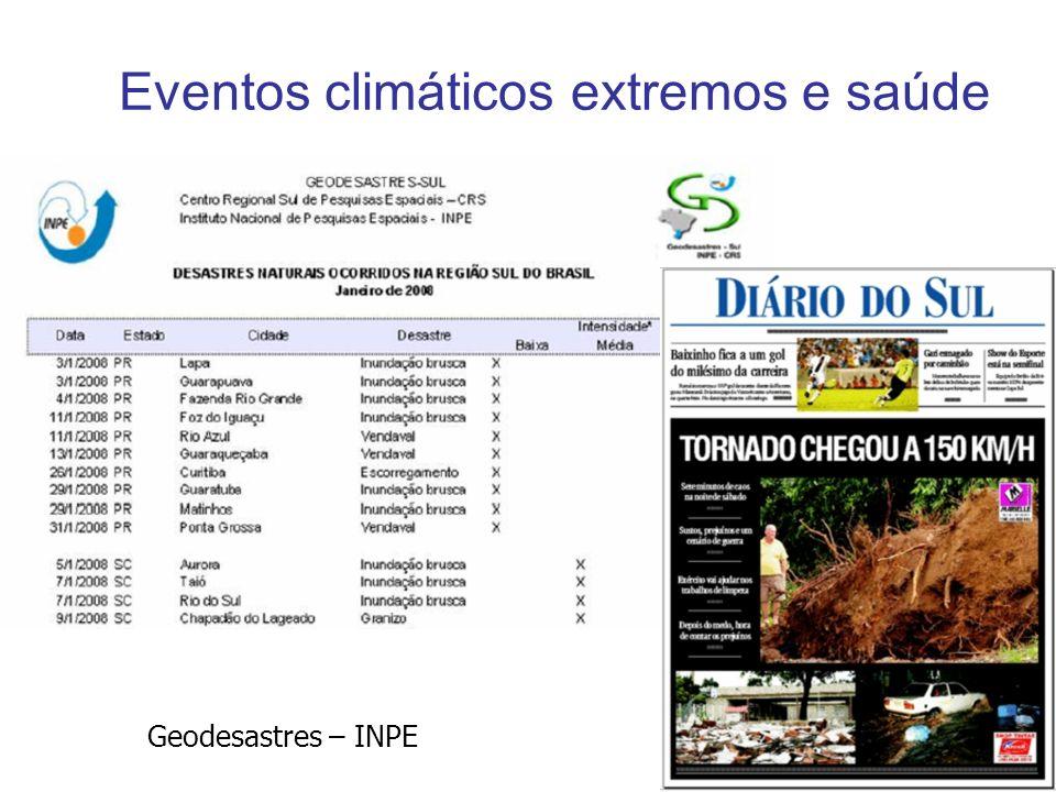 Eventos climáticos extremos e saúde