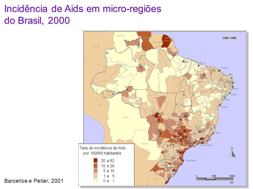 Incidência de Aids em micro-regiões do Brasil, 2000