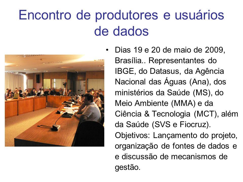 Encontro de produtores e usuários de dados