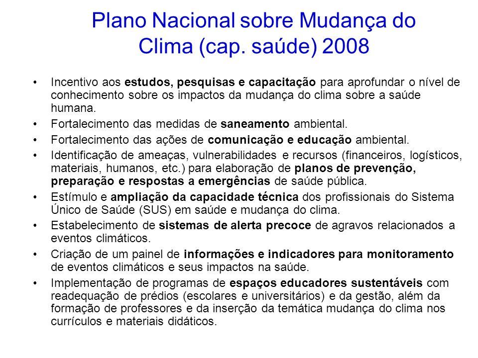 Plano Nacional sobre Mudança do Clima (cap. saúde) 2008