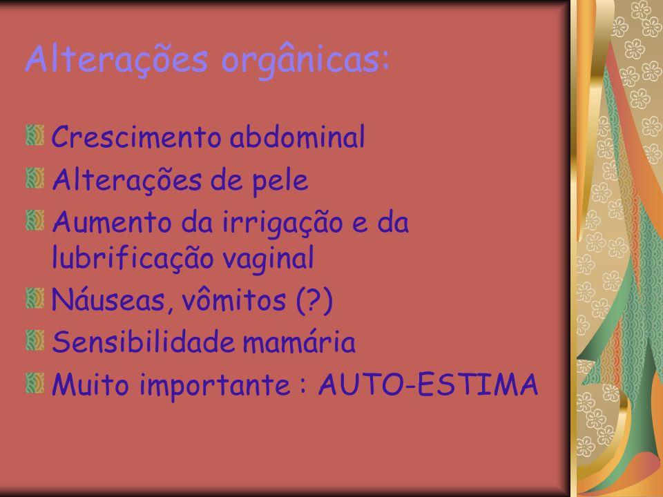 Alterações orgânicas: