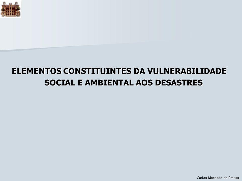 ELEMENTOS CONSTITUINTES DA VULNERABILIDADE SOCIAL E AMBIENTAL AOS DESASTRES