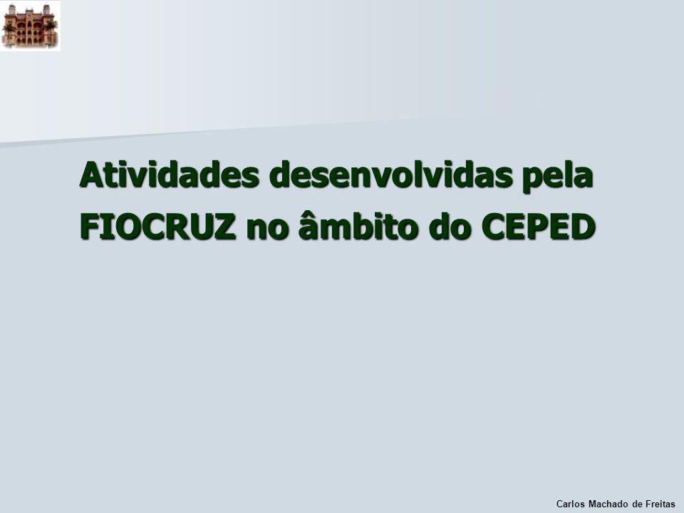 Atividades desenvolvidas pela FIOCRUZ no âmbito do CEPED