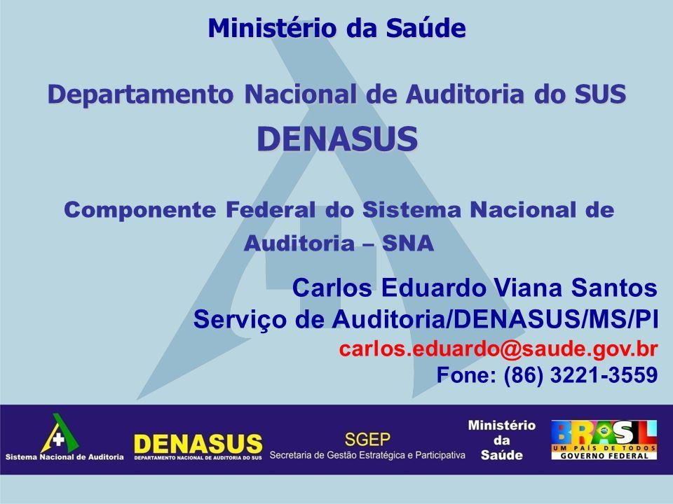 Ministério da Saúde Departamento Nacional de Auditoria do SUS DENASUS