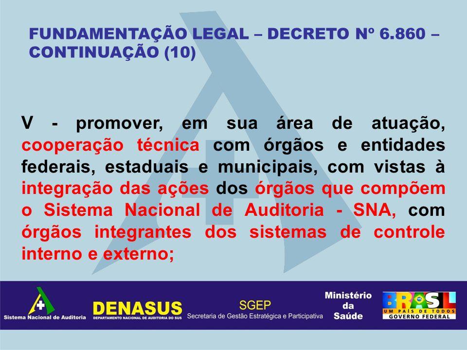 FUNDAMENTAÇÃO LEGAL – DECRETO Nº 6.860 – CONTINUAÇÃO (10)