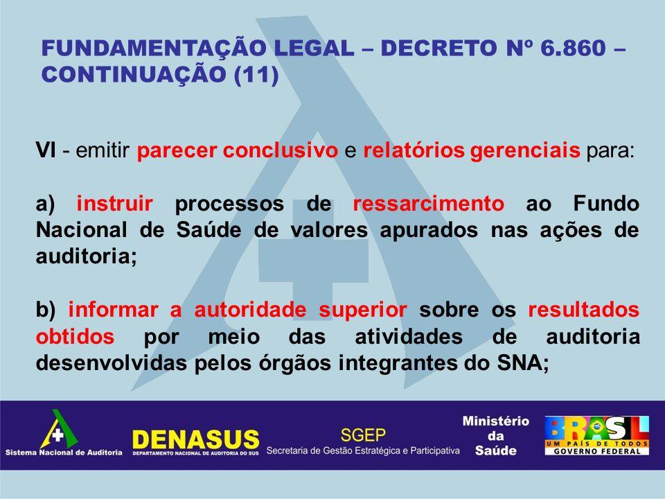 FUNDAMENTAÇÃO LEGAL – DECRETO Nº 6.860 – CONTINUAÇÃO (11)