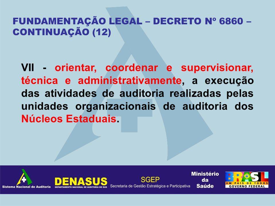 FUNDAMENTAÇÃO LEGAL – DECRETO Nº 6860 – CONTINUAÇÃO (12)