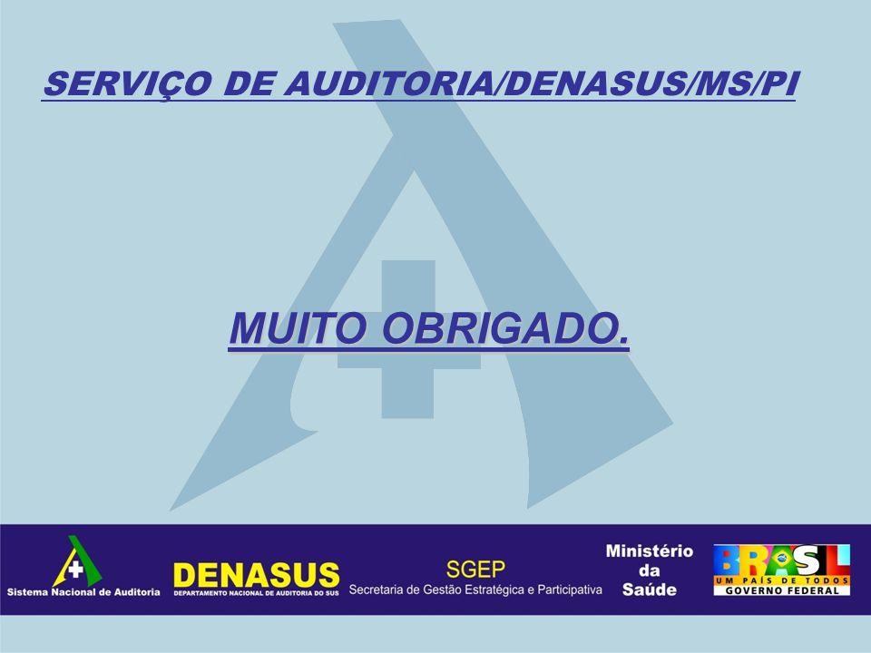 SERVIÇO DE AUDITORIA/DENASUS/MS/PI