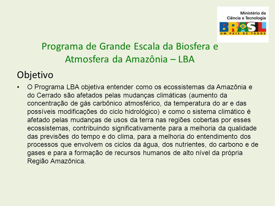 Programa de Grande Escala da Biosfera e Atmosfera da Amazônia – LBA