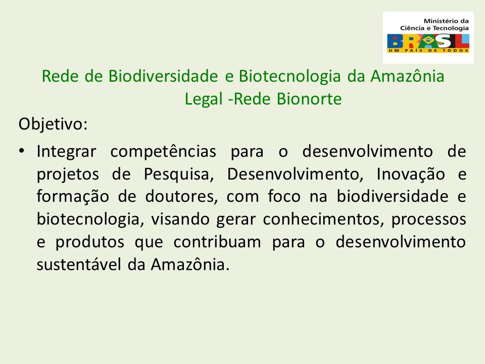 Rede de Biodiversidade e Biotecnologia da Amazônia Legal -Rede Bionorte