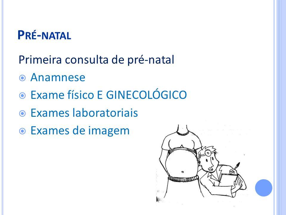 Pré-natal Primeira consulta de pré-natal Anamnese