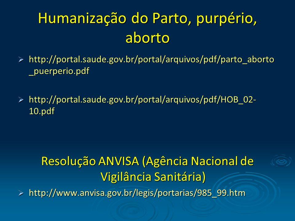 Humanização do Parto, purpério, aborto