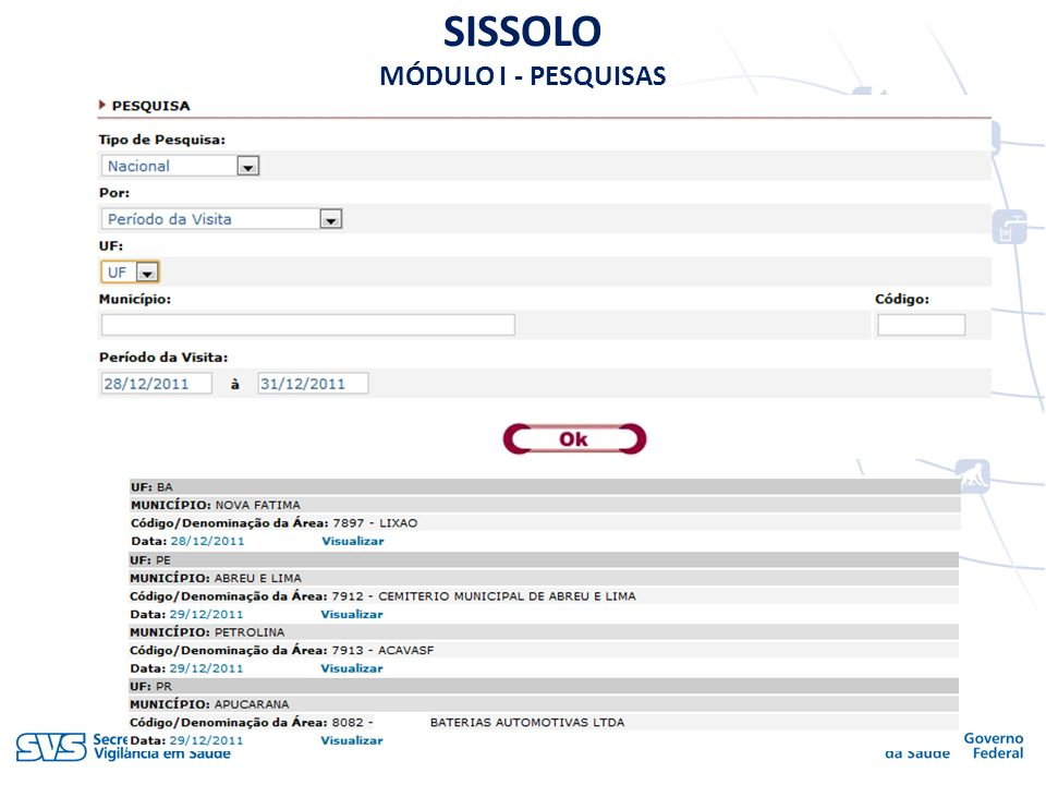 SISSOLO MÓDULO I - PESQUISAS