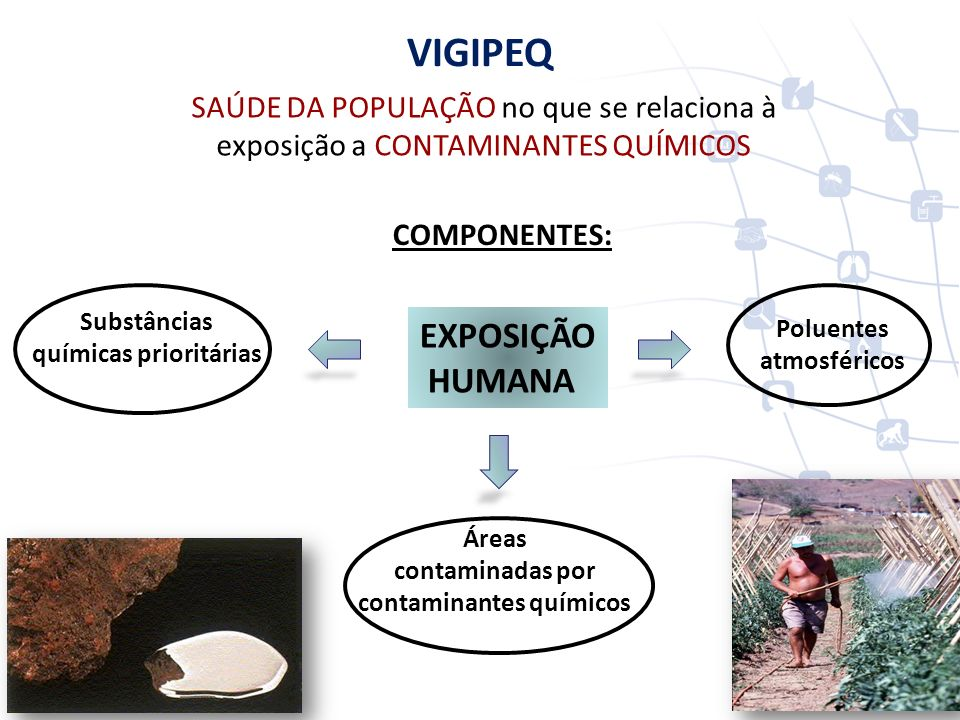 químicas prioritárias contaminantes químicos