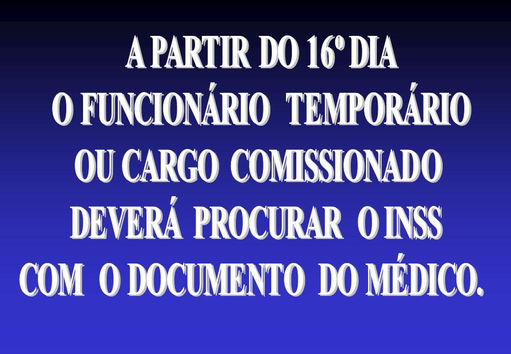 O FUNCIONÁRIO TEMPORÁRIO COM O DOCUMENTO DO MÉDICO.